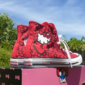 NEW Hello Kitty Women's Converse Chuck Taylors Red